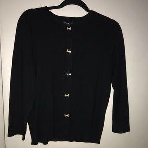 Brand new Women's Black Bow Button Cardigan